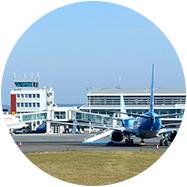 Un aéroport international